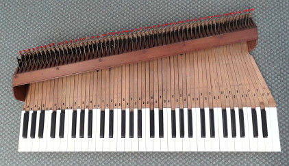 1796 John Broadwood and Son Square piano action 43K jpeg