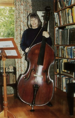 Diana Ford with her double bass 32K jpeg