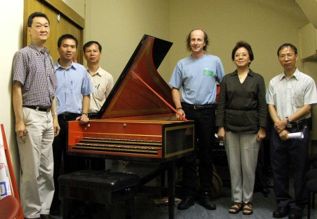 Tsang Fook Piano Co Ltd Tuners around the 1966 William Dowd harpsichord 42K jpeg