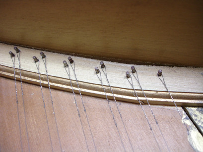 Harpsichord treble soundboard crack 40K jpeg