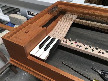 Gerlach clavichord installing the action 49K jpeg